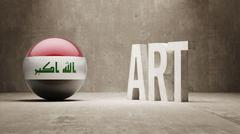 Iraq. Art  Concept Stock Illustration