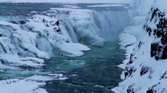 Waterfall in Iceland Stock Footage