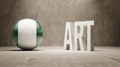 Nigeria. Art  Concept - stock illustration