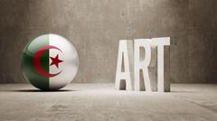 Algeria. Art  Concept Stock Illustration