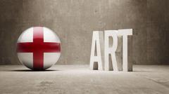 England. Art  Concept Stock Illustration