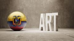 Ecuador. Art  Concept Stock Illustration