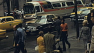 Stock Video Footage of New York 1976: traffic in the street