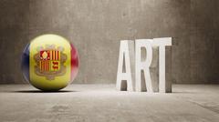 Andorra. Art  Concept Stock Illustration