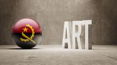 Stock Illustration of Angola. Art  Concept