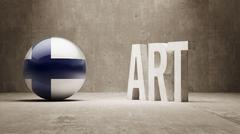 Finland. Art  Concept - stock illustration