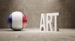 France. Art  Concept Stock Illustration