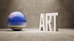 Aruba. Art  Concept - stock illustration