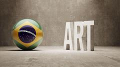 Brazil. Art  Concept Stock Illustration