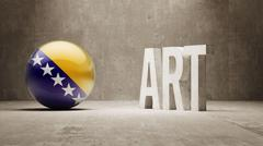 Bosnia and Herzegovina. Art  Concept Stock Illustration