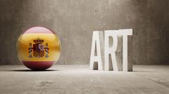 Spain. Art  Concept - stock illustration