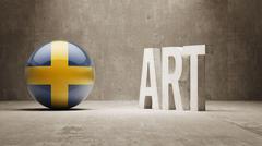 Sweden. Art  Concept - stock illustration
