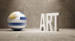 Uruguay. Art  Concept Stock Illustration