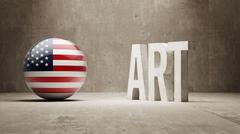United States. Art  Concept - stock illustration