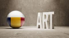 Romania. Art  Concept - stock illustration