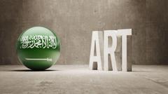 Saudi Arabia. Art  Concept - stock illustration