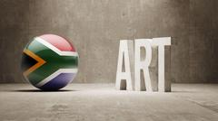 South Africa. Art  Concept Stock Illustration