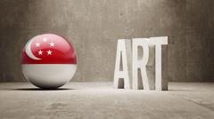 Singapore Art  Concept Stock Illustration
