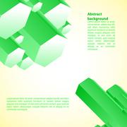 Cristal green prism. Vector illustration for your business presentation Piirros