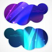 Set of abstract vector banners. Stock Illustration
