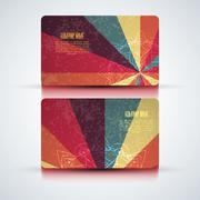 Vector abstract creative business cards (set template) - stock illustration