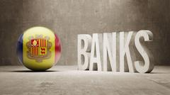 Stock Illustration of Andorra. Banks  Concept