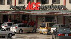 Stock Video Footage of Ace Hardware on Micronesian Island of Pohnpei
