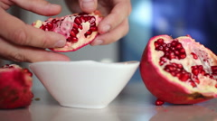 Pomegranate seeds Stock Footage