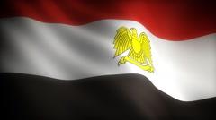 Flag of Egypt - stock footage