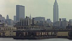 New York 1976: Empire State Building and Headquarters of the United Nations - stock footage
