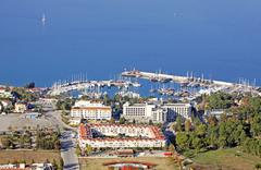Sea port of Kemer city, Antalya province, Turkey - stock photo