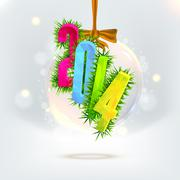Numbers 2014 from snowflakes. Celebration background for your posters Stock Illustration