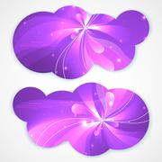A set of modern vector banners with flower background Stock Illustration