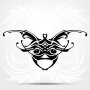Sharp tribal tattoo - stock illustration