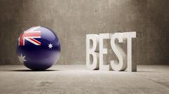 Australia. Best  Concept Stock Illustration