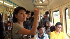 Travelling by underground. Taipei Stock Footage