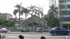 Catholic church in Taipei Stock Footage