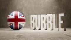 United Kingdom. Bubble  Concept. Stock Illustration