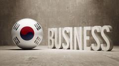 South Korea. - stock illustration