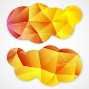 Set of abstract vector banners. - stock illustration