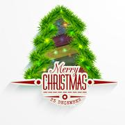Vector Christmas Messages and objects on wrinkled paper background. Stock Illustration