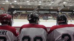 Hockey bench, slider Stock Footage