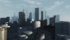 High rise buildings abstract cityscape Stock Footage