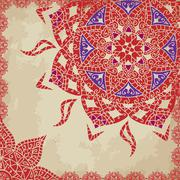 Stock Illustration of Indian grunge Ornament