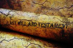 Last will and testament grunge concept Stock Photos