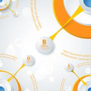 Modern orange design of info-graphics. Piirros
