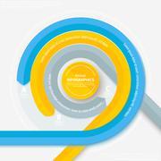 Stock Illustration of Modern circular scheme of info-graphics. Use for the press, bulekt, web-desig