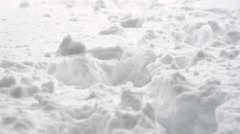 Footprints in the snow Stock Footage