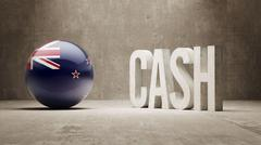 Stock Illustration of New Zealand. Cash  Concept.