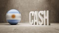 Argentina. Cash  Concept. - stock illustration